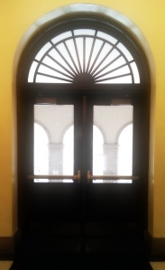 Front Doors-Campbell Hall (Photo by Anita Parker, Spring 2014)