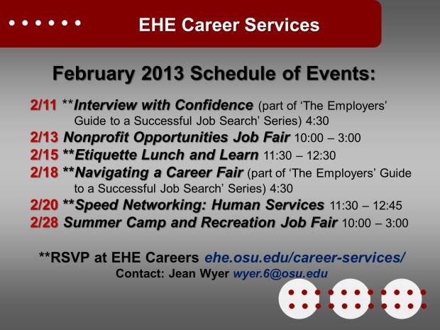career services feb 2013
