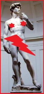 David by MichelangeloCensorship by Anita ;)