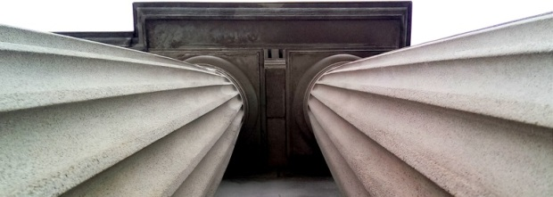 Columns of Campbell Hall (Photo by Anita Parker, Spring 2014)