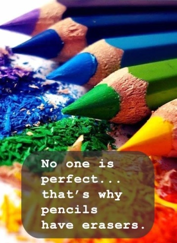 no one is perfect pencils have erasers